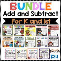 Addition and Subtraction MEGA BUNDLE - Kindergarten and First