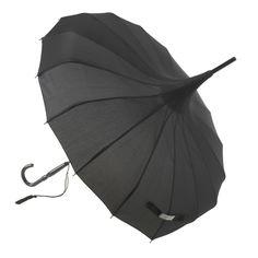 The perfect black pagoda umbrella by Lisbeth Dahl Copenhagen. #LisbethDahlCph #umbrella #pagoda #black