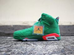 the best attitude c33a7 a671c Air Jordan 6  Gatorade  Green Team Orange-Summit White For Sale, The  Gatorade edition of the Air Jordan 6 comes dressed in a Green, Team Orange  and Summit ...
