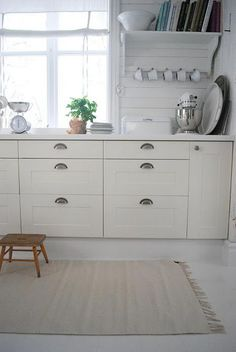 My fave IKEA kitchen door style: Adel White.