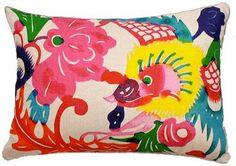 Mandarin Brights Colorful Dragon Pillow - Design Legacy - $134 - domino.com
