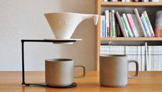 コーヒードリッパーセット + マグ2pcs 白×natural - threetone   うつわと生活雑貨
