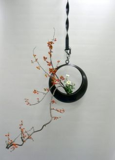 Ikebana. I studied this in Japan. Love the positive and negative space.