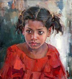 """Mokama Girl In Red"" by Delbert Gish"