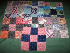 10 Antique Vintage 9 Patch Patchwork Quilt Blocks by kccaseyfinds, $9.75