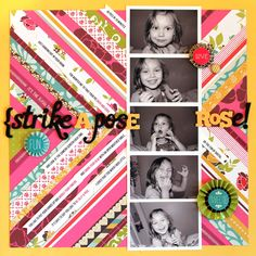 @american crafts blog c/o Briana Johnson. Quilt inspired page. What an awesome way to use up strips. It's bold and beautiful.