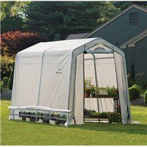 ShelterLogic 70652 GrowIt Peak Style Garden Greenhouse Plastic Greenhouse In A Box provides high illumination to help promote plant growth, protection. 6x8 Greenhouse, Portable Greenhouse, Backyard Greenhouse, Lawn And Garden, Home And Garden, Garden Beds, Cold Frame, Plant Growth, Growing Plants