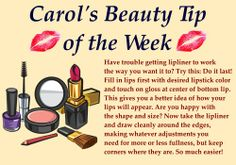"""Time for this week's beauty tip. Do you have any makeup or beauty questions you would like me to answer? Post your question here or on my facebook page and I may answer it in a future """"tip of the week"""".  #beauty #makeup #lips #lipliner"""