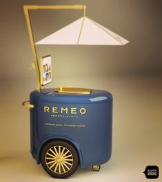 Food Cart Design, Food Truck Design, Mobile Kiosk, Food Trolley, Mobile Food Cart, Dairy Packaging, Bike Food, Small Coffee Shop, Ice Cream Cart
