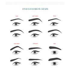 Figure out the brow shape you want. | 16 Eyebrow Diagrams That Will Explain Everything To You