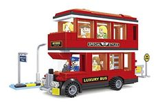 Ausini City Double Decker Tour Bus with Action Figures Building Bricks 282pc Educational Blocks Set Compatible to Lego Parts - Great Gift for Children >>> You can get more details by clicking on the image.