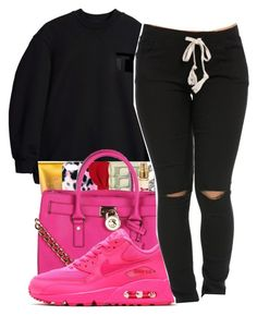 """""""The worst guys"""" by maiyaxbabyyy ❤ liked on Polyvore featuring T By Alexander Wang, MICHAEL Michael Kors and NIKE"""