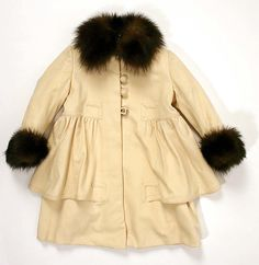 Child's ivory wool coat with fur trim, by Best & Co., probably French, ca. 1914.