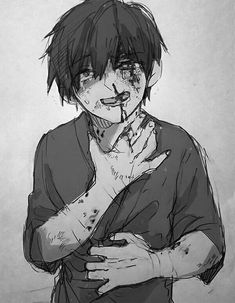 Abused Bloody anime boy Guro