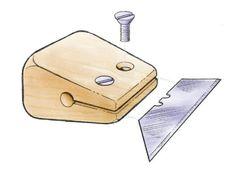 Utility-knife blade makes a nimble scraper - FineWoodworking #WoodworkingTools
