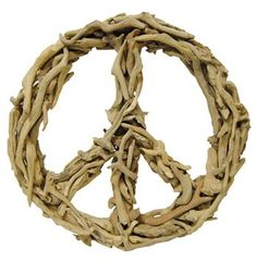 Driftwood Peace Sign Sculpture. #kathykuohome