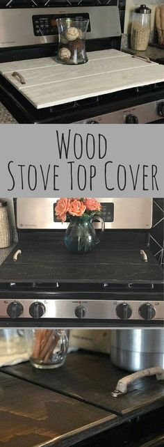 Wood Stove Cover, Kitchen decor, wood stove topper, Oven, Wood Tray, Shiplap Style Cover, Rustic kitchen decor, Farmhouse kitchen decor, Primitive kitchen, home decor #ad