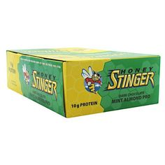 Honey Stinger Stinger Bar Dark Chocolate Mint Almond Pro - Gluten Free