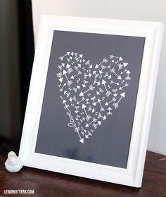Printable Art - Arrows, Love, Hearts, and Mushy Stuff