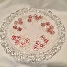 Mikasa Rosella Pink Rose Crystal Cake Plate #Mikasa | MIKASA ...
