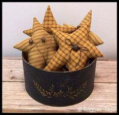 primitive country craft pattern free | Primitive Grubby Stars Craft Pattern & E-Pattern