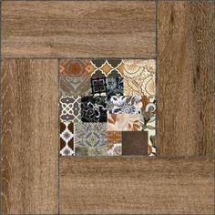 Уралкерамика Ранчо Напольная плитка на коричневом коричневая ПГ3РЧ404 41,8х41,8