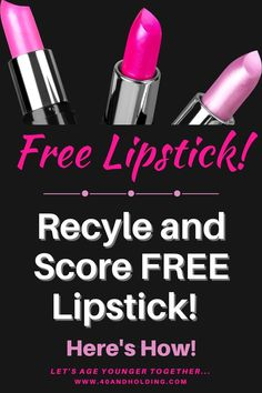 How you can help the planet by recycling your old lipsticks and trade them in for new lipsticks! On the Beauty Blog.  #lipstick #beauty #beautyblog #makeup #makeupover40 #lipsticks #40andholdinglife Makeup Over 40, Old Makeup, Beauty Makeup, Makeup Tips To Look Younger, Get Free Makeup, Mac Lipstick, Makeup Forever, Makeup Inspo, Makeup Junkie