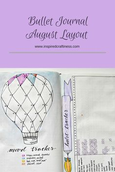 Bullet Journal August Layout