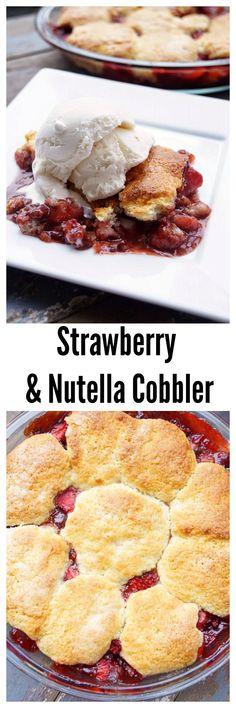 Strawberry and Nutella Cobbler