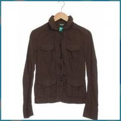United COLORS OF BENETTON Damen Jacke braun Baumwolle DE 44 Easy People Drawings, Drawing People, Colors Of Benetton, Pictures To Draw, Most Beautiful Pictures, Military Jacket, The Unit, Athletic, Zip