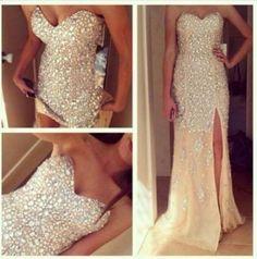 Colorful Sparkly Dresses | dress glitter dress gorgeous white dress bling nude, gold, diamond ...