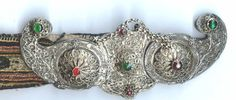 Very nice filigree and inlaid kleidortiri belt buckle on old belt from Attica Greece. Greek Costumes, Attica Greece, Central Europe, Ethnic Jewelry, Vintage Buttons, Islamic Art, Belt Buckles, Filigree, Ottoman