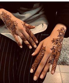 65 ideas for wedding ideas indian mehndi mehandi designs Finger Henna Designs, Arabic Henna Designs, Stylish Mehndi Designs, Mehndi Designs For Girls, Unique Mehndi Designs, Henna Designs Easy, Mehndi Designs For Fingers, Beautiful Henna Designs, Latest Mehndi Designs