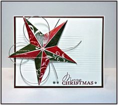 Merry Christmas Star by Julie Gearinger - Cards and Paper Crafts at Splitcoaststampers