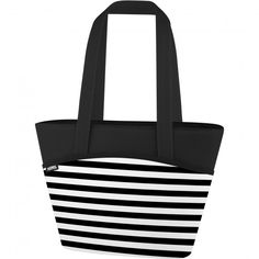 524fed2e305a Thermos Raya Tote  Stripes  Insulated Lunch Bag (Black White)