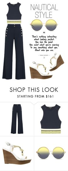 """""""Nautical Style"""" by latoyacl ❤ liked on Polyvore featuring Chloé, rag & bone, MICHAEL Michael Kors and Matthew Williamson"""