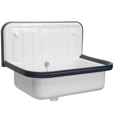 Alape Bucket Sink Blue Trim D0388