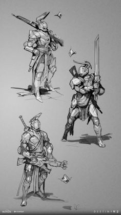 This is a selection of early work I created during the Destiny Warmind project. Destiny Hunter, Destiny Game, Character Concept, Character Art, Character Design, Armor Concept, Concept Art, Saint 14, Destiny Bungie