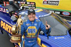 Don Schumacher Racing's Ron Capps drives new 2015 Mopar Dodge Charger to win at NHRA Gatornationals