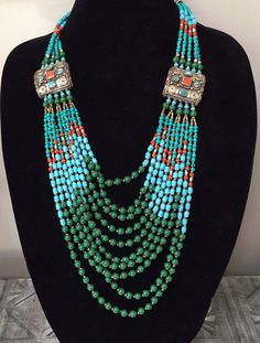 JEWELRY WITH REAL TURQUOISE, CORAL, CARNELIAN, GREEN TURQUOISE | eBay