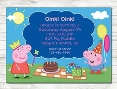 Peppa pig thank you card george pig pig party and birthdays filmwisefo