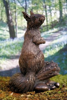 'Willow' - Red Squirrel sculpture in cold-cast copper by Kirsty Armstrong Sculpture. www.justkirsty.com