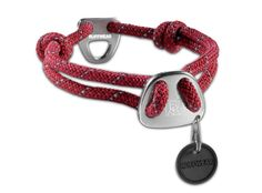 Knot-a-Collar™ reflective, low-profile, adjustable. Inspired by climbing rope, this collar is strong and comfortable. Sliding fisherman knots are adjustable for a custom fit and the Ruffwear-designed, single-piece aluminum hardware is ultra-secure. Integrated reflectivity provides low-light visibility. $22.95