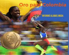 La atleta colombiana Caterine Ibargüen logró la medalla de oro...
