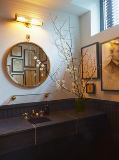 Charlotte Minty Interior Design: The Dean Hotel, Providence Bathroom Inspiration, Interior Design Inspiration, Bathroom Ideas, Bathroom Vanities, Bath Ideas, Beautiful Interiors, Beautiful Homes, Modern Interiors, Hotel Providence