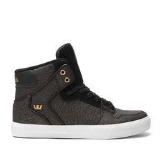 "VAIDER ""TIP"" BLACK / GOLD - WHITE by SUPRA Footwear. hawt."