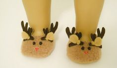 Reindeer Christmas Doll Slippers