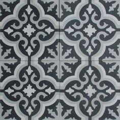 Cement Tile Shop - Encaustic Cement Tile Bordeaux IX - x Bathroom Kids, Laundry In Bathroom, Bathrooms, Downstairs Bathroom, Small Bathroom, Home Decor Inspiration, Bathroom Inspiration, House Viewing, Stone Tiles