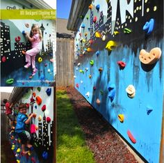 DIY Outdoor Rock Climbing Wall........Follow DIY Fun Ideas on facebook: https://www.facebook.com/DIYFunIdeas