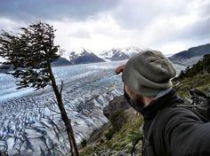 Steve in Am Torres del Paine Gletscher in Südamerika